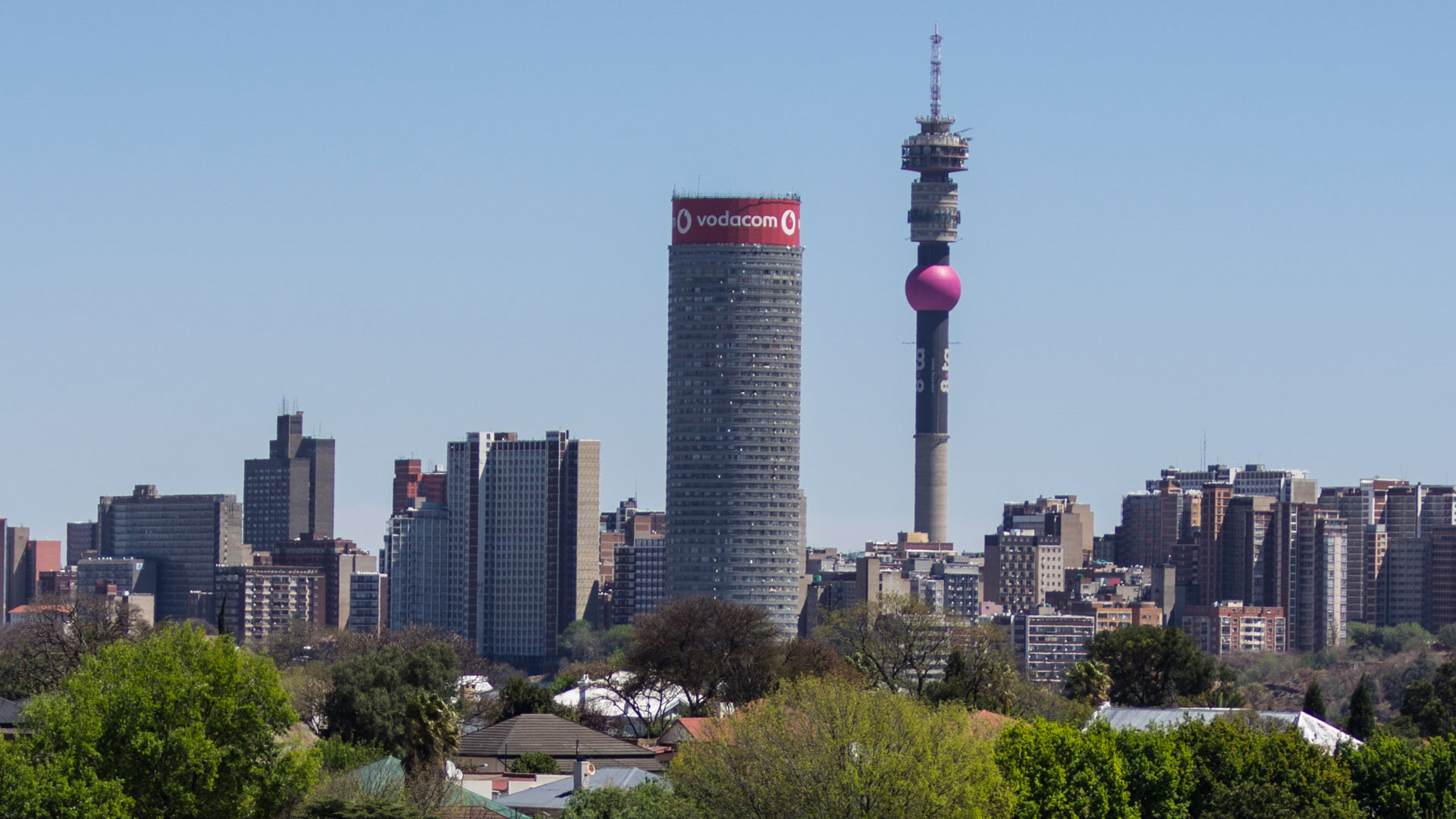 View from Ponte from Scottish Horse Memorial. Johannesburg, South Africa. Photo by Andrew Moore.