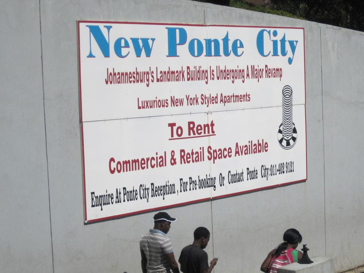 The sign that appeared when the new developers bought Ponte
